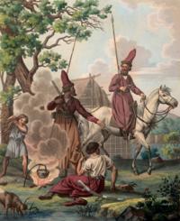Е. М. Корнеев «Пикет Уральских казаков». 1802 г.