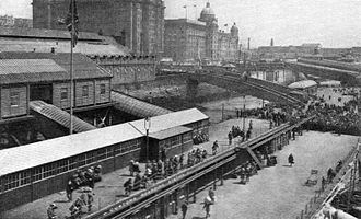 Pier Head - The floating landing stage, circa 1930