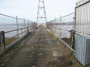 Aust Severn Powerline Crossing - Walkway to the Aust pylon