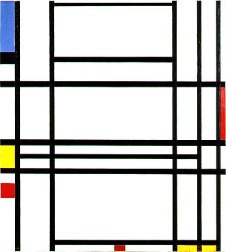 Geometric abstraction - Piet Mondrian, Composition No. 10, 1939–42, oil on canvas