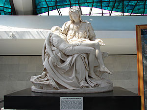 Replicas of Michelangelo's Pietà - The Pietà statue at the National Cathedral of Brasília, Brazil.