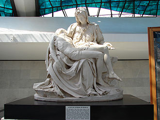 Replicas of Michelangelo's Pietà - The Pietà statue at the National Cathedral of Brasília, Brazil.