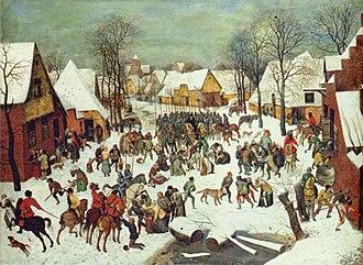 1566 in art - Pieter Bruegel the Elder, The Massacre of the Innocents, c.1566-1567