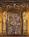 Pietro tacca e orazio vanni, ciborio del duomo di firenze, con sportello di bernardo holzmann, argento, 1622-37, 05.jpg