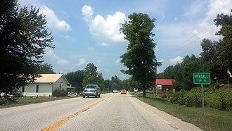 Pindall, Arkansas - Entrance to Pindall