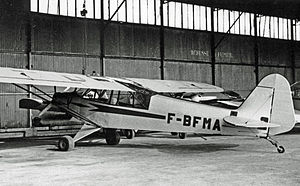 Piper PA-11 - PA-11 Cub Special at Chelles airfield near Paris in June 1967