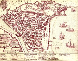 Italian irredentism in Nice - Nice in 1624, when it was called Nizza