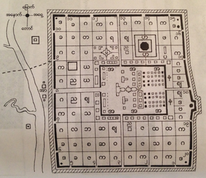 Binnya Dala (minister-general) - Plan of the city of Pegu (Bago), 1568