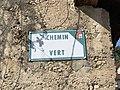 Plaque de rue du Chemin Vert (Beynost).jpg