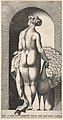 Plate 4- Juno standing in a niche, viewed from behind, stroking a peacock to her right, from a series of mythological gods and goddesses MET DP830912.jpg