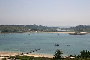 Tresco, Isles of Scilly - Image: Plumb Island and Great Pool, Tresco, from Bryher geograph.org.uk 1196274