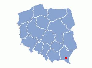 Karlików - Image: Położenie Sanoka