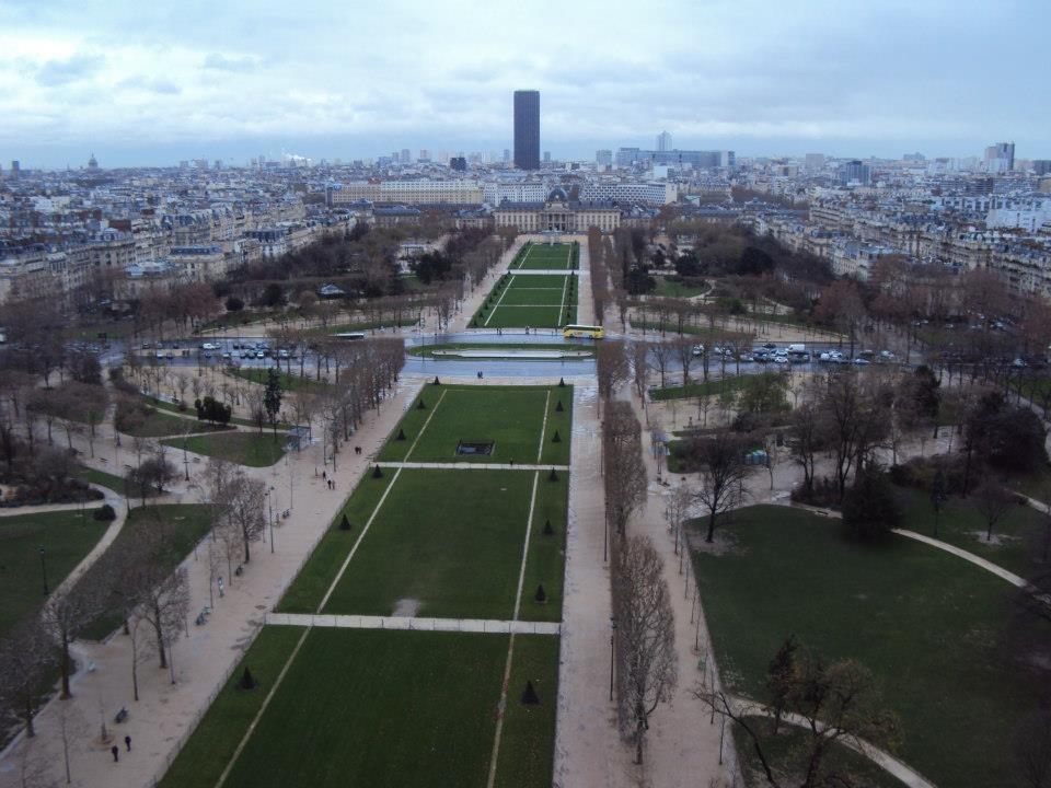 Pohled z Eiffelovy věže