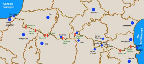 frontiere france espagne carte Frontière entre l'Espagne et la France — Wikipédia