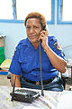 Police officer Malen looks after cases at the Family and Sexual Violence Unit at Waigani Police Station, Port Moresby PNG. (10714041116).jpg