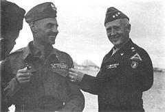 Władysław Anders i George Patton, 1944