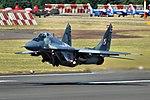 Polish MiG-29 taking off at RIAT for a flight display.jpg