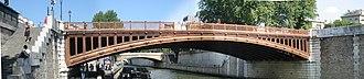 Pont au Double - Image: Pont au double vu de la rive gauche a l ouest 20050628 panoramique