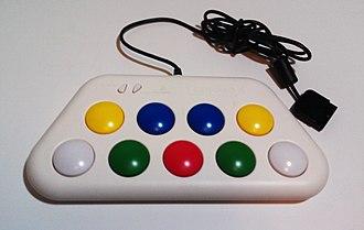Pop'n Music - Photograph of an official Konami Pop'n Music mini-controller.