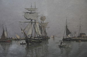 Port of Honfleur by Louis-Alexandre Dubourg.JPG