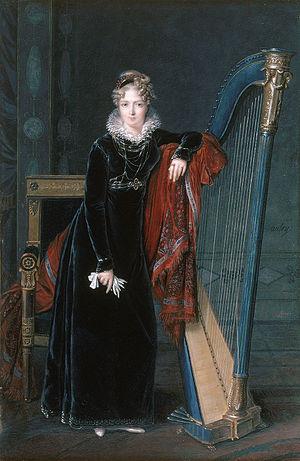 Louis-François Aubry - Portrait de la baronne de Benoist by Louis-François Aubry