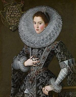 Ana de Velasco y Girón - Ana de Velasco y Téllez-Girón, in 1603 by (Juan Pantoja de la Cruz)
