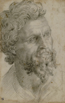 Benvenuto Cellini Self Portrait Drawing