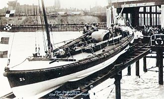 Watson-class lifeboat - Image: Postcard of the Dedication of Lord Southborough in 1925