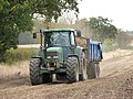 Potato harvest - leaving the field to offload - geograph.org.uk - 1539471.jpg