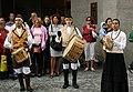 Praha, Staré Město, Prašná brána, bubeníci.JPG