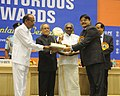 Pranab Mukherjee presenting the Meritorious Award at the SCOPE Meritorious presenting ceremony, in New Delhi. The Union Minister for Heavy Industries and Public Enterprises.jpg
