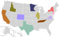Presidential Candidate Home State Locator Map, 1984 (United States of America) (Expanded).png