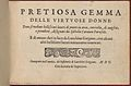 Pretiosa Gemma delle virtuose donne, title page (recto) MET DP356947.jpg