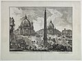 "Print, View of the Piazza del Popolo, Rome from series - ""Vedute di Roma"", v. II, 1750 (CH 18369627).jpg"