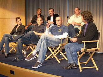 Prison Break - Cast members Amaury Nolasco, Robert Knepper, Wade Williams, Sarah Wayne Callies, Wentworth Miller with executive producer Matt Olmstead