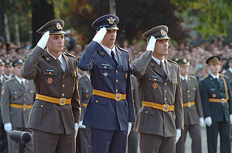 Military Academy (Serbia) - Graduating students from the academy