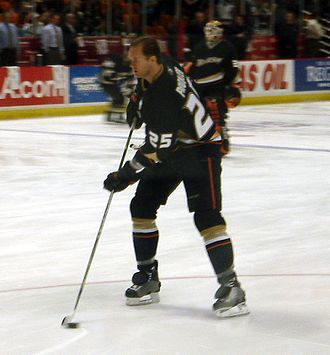 Anaheim Ducks - Chris Pronger during the 2006–07 season. The Ducks acquired Pronger during the 2006 off-season, in a trade with the Edmonton Oilers.