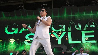 "Korean Wave - Psy performs ""Gangnam Style"" in Sydney, Australia in 2013."