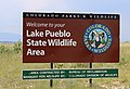 Pueblo Reservoir State Wildlife Area sign.JPG