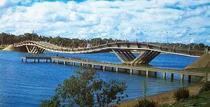 Stressed ribbon bridge - Image: Puente Barra Maldonado (Punta del Este)