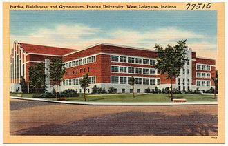 Lambert Fieldhouse - Image: Purdue fieldhouse and gymnasium, Purdue University, West Lafayette, Indiana (77515)
