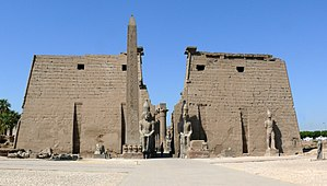 Luxor Obelisk - The remaining obelisk at Luxor Temple Pylon