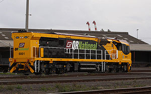 Aurizon - Image: QR National 6000 class number 2 end