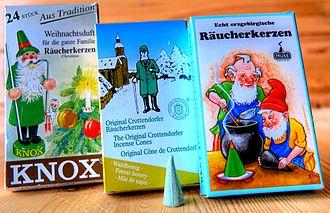 Räucherkerze - Räucherkerzen manufacturers: KNOX, Crottendorfer and Huss