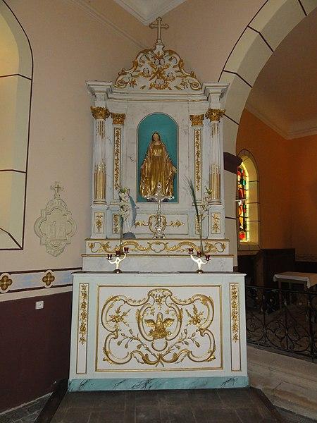 Réclonville (M-et-M) église, autel g