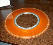 Un disco fisso dell'IBM 350 Disk File