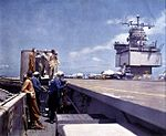 RF-8A VFP-62 landing on USS Enterprise (CVAN-65) 1962.jpg