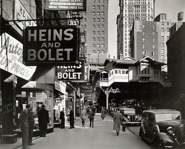 Radio Row in 1936, photographed by Berenice Abbott Radio Row-Berenice Abbott.jpg
