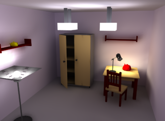 Radiosity (computer graphics) - Scene rendered with RRV  (simple implementation of radiosity renderer based on OpenGL) 79th iteration.