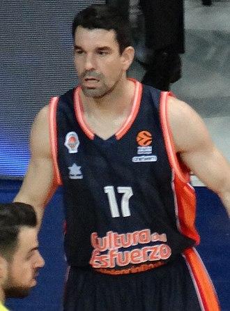 Rafa Martínez - Rafael Martínez with Valencia Basket.